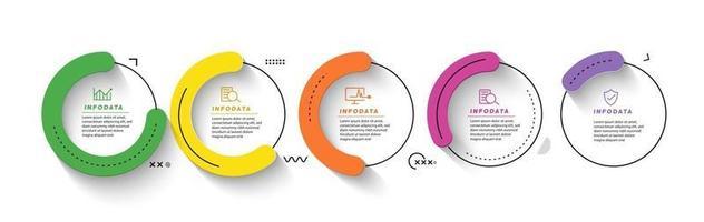 Design elements of business infographics. Modern infochart, marketing chart and graphs, bar diagrams. vector