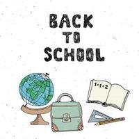 Back to School hand drawn sketch doodles set, vector illustration.
