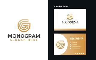 Letter G Monogram Modern Concept Logo Template Vector Illustration