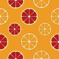 orange and grapefruit seamless pattern, vector illustration