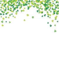 Clover leaf hand drawn sketch doodle illustration. St Patricks Day symbol, Irish lucky shamrock background vector