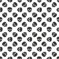 Skull and cross sumbol seamless pattern, hand drawn sketch vector illustration