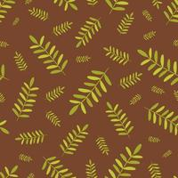 Seamless pattern with green leaves of a fern Vector illustration Design for banner poster postcard packaging