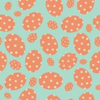Cute cartoon seamless pattern easter eggs Great for Easter Cards banner textiles wallpapers  vector design