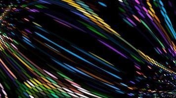 partículas bola ponto colorido abstrato luz laser energia piscar rápido video