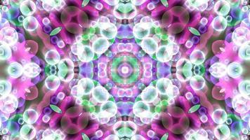 art abstrait refection fleurs luxe fantaisie motif texture fond, sombre dimension ralenti video