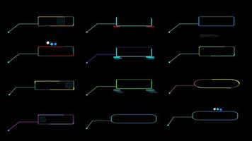 Call out colorful HUD elements digital technology motion video