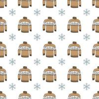 Winter season doodle clothes seamless pattern. Hand drawn sketch elements warm socks, gloves and hats. striped vector background illustration.