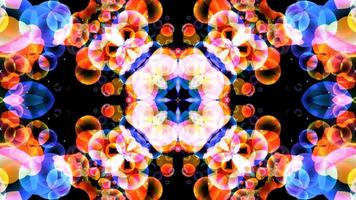 abstract art rainbow bubbles refection flowers luxury fantasy pattern texture background, dark dimension slow motion video