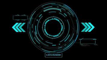 technologie futuriste élément holographique numérique effet de lueur laser flèche laser bleu et bordure de deux légendes avec ton bleu numérique video