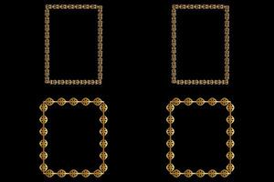 Luxury Square Frames vector