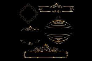 Elegant royal frame with crown vector