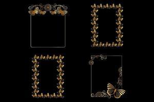 Golden Vertical Frames vector