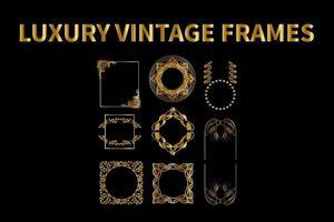 Luxury Vintage Frames Set vector