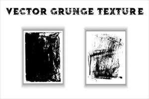 Black grunge texture vector