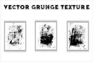 Grunge texture overlay set vector