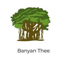 Banyan Fig Tree vector