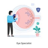 Eye Specialist Design vector
