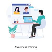 Awareness Training Tutorials vector