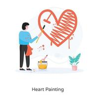 Heart Painting and  Drawing vector