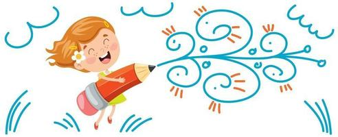Concept Banner With Happy Kids vector