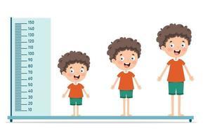 Height Measure For Little Children vector
