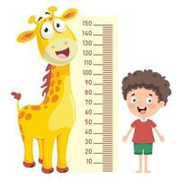 medida de altura para niños pequeños vector