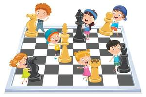 Chess Game Board And Pieces vector