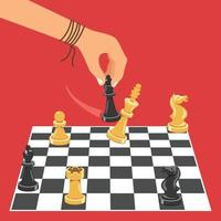 Man Playing Game Of Chess vector