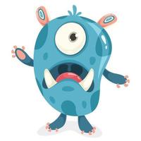 Cartoon Character Of Funny Little Monster vector