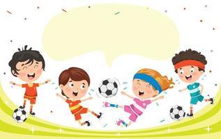 Little Happy Kids Making Sport vector