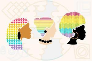 Pride people diversity women collection set vector