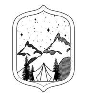 landscape silhouette emblem vector