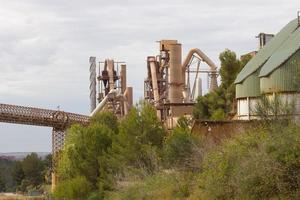 Former cement factory, closed and abandoned. photo