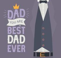 quote for fathers vector