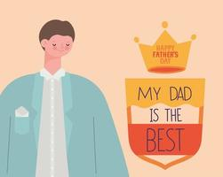 card for fathers vector