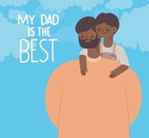 daddys day poster vector