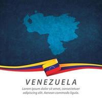 bandera de venezuela con mapa vector