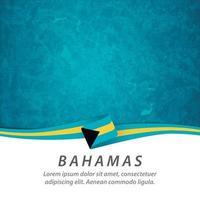Bahamas flag with map vector