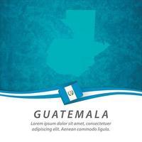 bandera de guatemala con mapa vector