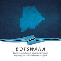 Botswana flag with map vector
