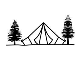 nice tent illustration vector