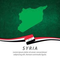 Syria flag with map vector