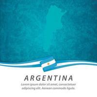 bandera argentina con mapa vector