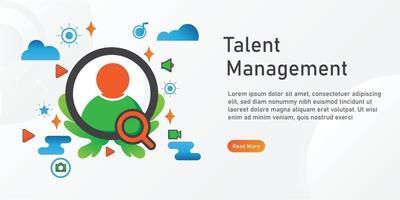 talent management Landing page template. creative website template designs. editable Vector illustration.