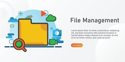file management Landing page template. creative website template designs. editable Vector illustration.
