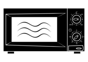 Microwave icon. Microwave symbol in glyph style and empty inside, icon for website design, mobile app. Modern oven in black color vector