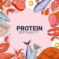 protein quality lettering vector