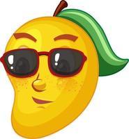 Mango cartoon character with facial expression vector
