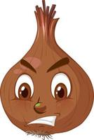 Onion cartoon character with facial expression vector